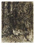 Couple étendu au pied d'un arbre, enlacé et nu, au bord de l'eau Giclee Print by Théophile Alexandre Steinlen
