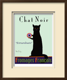 Chat Noir - Black Cat Limited Edition Framed Print by Ken Bailey