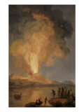 Eruption du Vve Giclee Print by Pierre Jacques Volaire