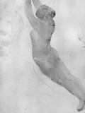 Dessin Gicleetryck av Auguste Rodin