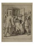 Convulsionnaires et miraculés de Saint-Médard : la demoiselle Hardoin, maladie Giclee Print by Jean Restout