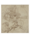 Dessin d'ornement à motifs de grotesques Giclée-Druck von Perino Del Vaga