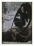 La Mort et le fossoyeur Giclee Print by Carlos Schwabe