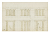 Projet de décoration d'une grande salle de réception Giclée-Druck von Herman Vischer