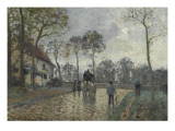 La diligence à Louveciennes (Yvelines) Giclee Print by Camille Pissarro