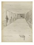 Corridor de prison avec de chaque côté, des portes verouillées Giclee Print by Théophile Alexandre Steinlen