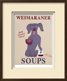 Weimaraner Soups Limited Edition Framed Print by Ken Bailey
