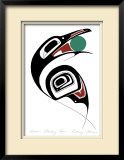 Raven Stealing Sun Limited Edition Framed Print by Danny Dennis