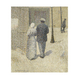 Couple dans la rue Giclee Print by Charles Angrand