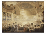 Souper des Dames dans la salle de spectacles des Tuileries en 1835 Giclée-Druck von Eugène Viollet-le-Duc