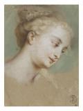 Tête de femme Giclée-Druck von Nicolas Vleughels
