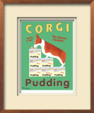 Corgi Pudding Limited Edition Framed Print by Ken Bailey
