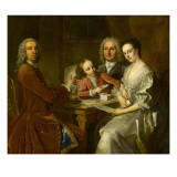 Familyportret Gicl&#233;e-Druck von Jean Baptiste Van Loo