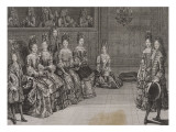 Dance: the Duke of Chartres in the Minuet with Miss Giclee Print by Antoine Trouvain