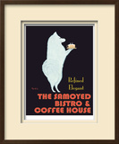 Samoyed Bistro Limited Edition Framed Print by Ken Bailey