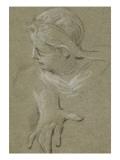 Convulsionnaires et miraculés de Saint-Médard : la demoiselle Hardoin, étude pour la guérison Giclee Print by Jean Restout