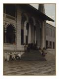 Porte de la Mosquée de Yéni-Djami à Constantinople Impression giclée par Alberto Pasini