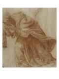 Femme drapée, penchée en avant portant ses mains devant ses yeux Giclée-Druck von Daniele Da Volterra