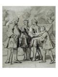 Convulsionnaires et miraculés de Saint-Médard :  D.A de Palacios, maladie Giclee Print by Jean Restout