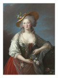 Elisabeth Philippine Marie H&#233;l&#232;ne de France, dite Madame Elisabeth Reproduction proc&#233;d&#233; gicl&#233;e par Elisabeth Louise Vig&#233;e-LeBrun