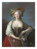 Elisabeth Philippine Marie Hélène de France, dite Madame Elisabeth Giclée-Druck von Elisabeth Louise Vigée-LeBrun