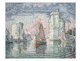 Entrée du port de la Rochelle Gicléetryck av Paul Signac