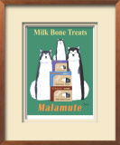 Malamute Milk Bones Limited Edition Framed Print by Ken Bailey