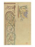 Motif décoratif : rinceaux de lys et de feuilles peuplés d'oiseaux Giclée-Druck von Eugène Viollet-le-Duc