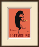 Rottweiler Brand Limited Edition Framed Print by Ken Bailey