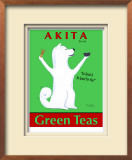 Akita Green Tea Limited Edition Framed Print by Ken Bailey