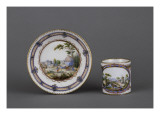Cup and Saucer Decorated Litron Form of a Landscape Gicl&#233;e-Druck von Andr&#233; Vincent Vieillard