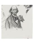 Homme vu en buste, portant un noeud papillon large, et étude de sa tête Giclee Print by Théophile Alexandre Steinlen