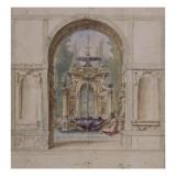 Fontaine Lámina giclée por Fabrizio Boschi
