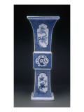 Fangzun Shaped Vase Decorated with Flowers and Dragon Giclee Print