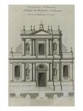 Elévation du portail de l'église du couvent des Feuillantines rue du faubou Giclée-tryk af Jacques-François Blondel