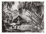 Haardt, Audouin-Dubreuil et Bettembourg au campement de chasse de Am Dafok Lámina giclée