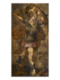Hanging of Painted Leather, Heroes Romans. Horatius Giclee Print by Hendrick Goltzius