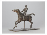 Galloping Horse Turning His Head Right. Horse Jockey Giclee Print by Edgar Degas