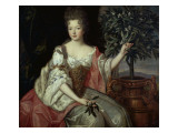 Françoise Marie de Bourbon, duchesse d'Orléans Giclee Print by Pierre Gobert