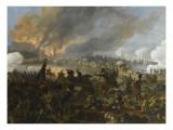 Combat et prise de la ville d'Ebersberg, le 3 mai 1809 Giclée-tryk af Nicolas Antoine Taunay