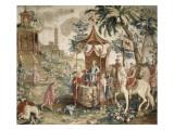"""Tenture du prince chinois : """"le voyage de l'Empereur"""" Giclée-Druck von Guy-Louis Vernansal"""