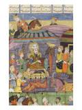 Shahnameh de Ferdowsi ou le Livre des Rois. Sohrab regarde la tente rouge de Rostame, son père. Giclee Print