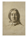 George Sand (1804-1876), écrivain - esquisse Giclee Print by Thomas Couture