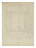 Fourth District City Council of Paris: Plan of Attic Giclee Print by Marcellin Varcollier