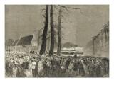 Obsèques de Napoléon III 25 janvier 1873 : arrivée du corps à l'église Sain Giclée-Druck von Daniel Urrabieta Vierge
