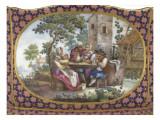 Cuvette à fleurs à compartiments, dite aussi Choisy ; 2° grandeur Giclée-Druck von André Vincent Vieillard