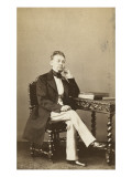 Francois Alexandre Eiffel Sitting, Leaning on a Table Giclee Print by Alexandre Ken