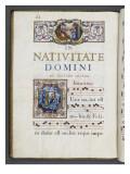 Graduale romanum, exécuté par P. Louis Blouin Lámina giclée por J.B. de Bray