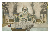 Fireworks Given in Paris at the Marriage of Napoleon Giclee Print