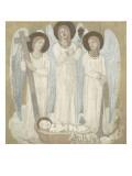 La Foi, l'Espérance et la Charité, veillant sur Sainte Geneviève au berceau Giclee Print by Pierre Puvis de Chavannes